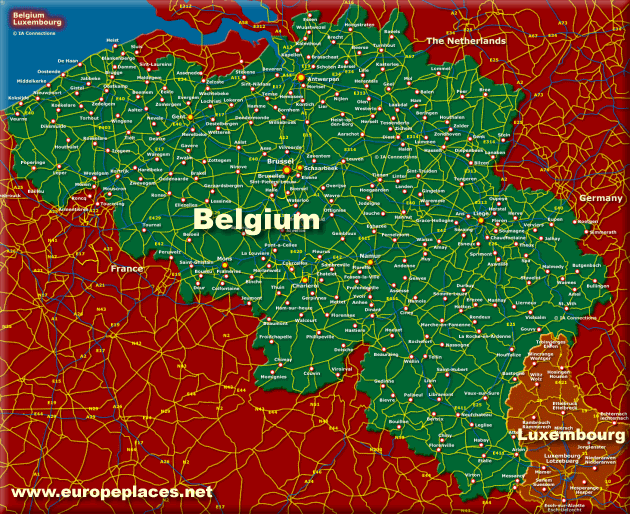 Click for the Larger Belgium Map