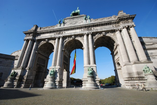 The Triumphal Arch at the Parc du Cinquantenaire, Brussels. Built in 1880 to Celebrate 50 years of Belgium Independence
