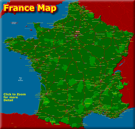Map of France - Click to Zoom for more Detail