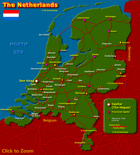 Map of the Netherlands - Click to Zoom