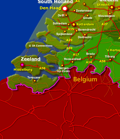 Netherlands States Map